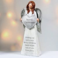 Personalised Angel Ornament - Ideal gifts for memorials, new home, birthday, wedding mothers day.